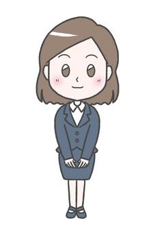 初々しい新入社員の女性