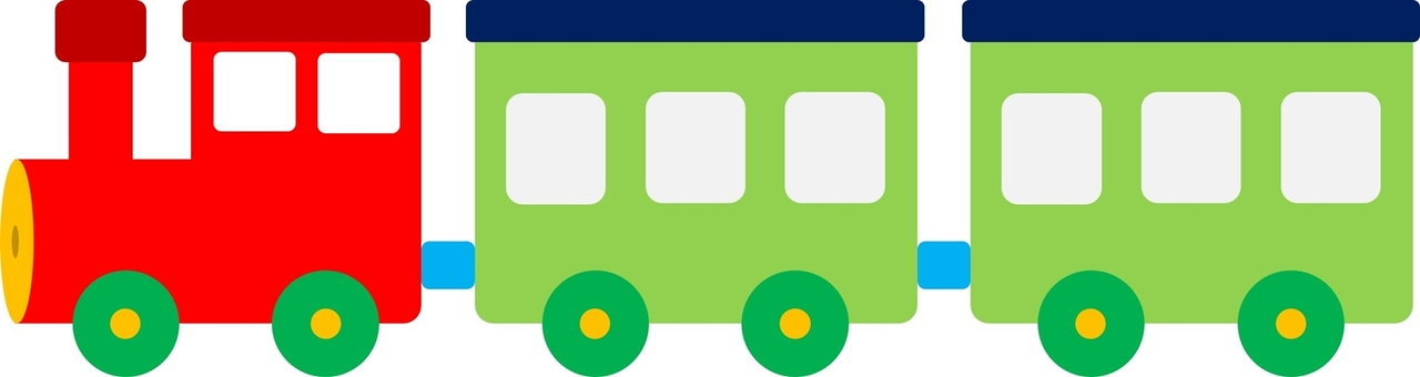 Train POP 01 (red, green)