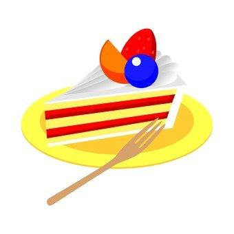 Fruits shortcake