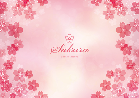 Spring background frame 001 Sakura pink