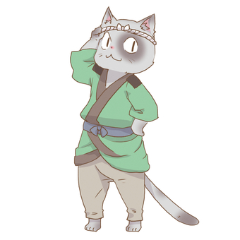 Japanese clothes cat