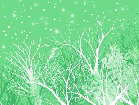 Winter landscape (green)