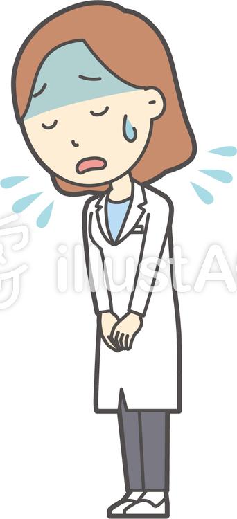 若者医師女性-364-全身のイラスト
