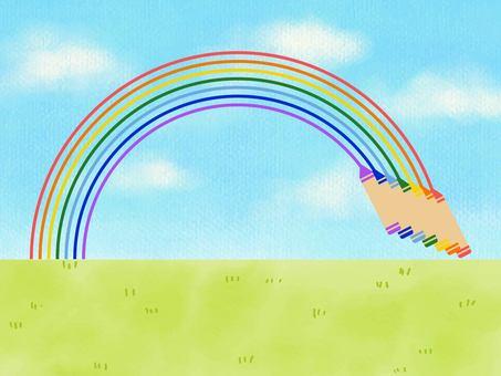 To draw a rainbow