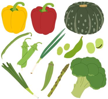 Vegetables (green yellow vegetables) 1/4 * Borderless