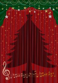 Christmas concert information flyer frame