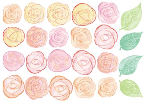 色鉛筆水彩バラ