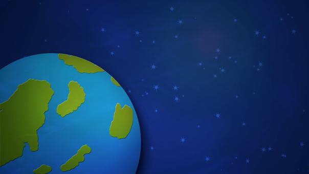 우주에 떠있는 지구 배경