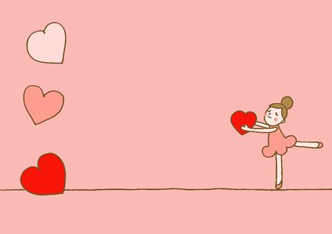 Heart ballerina red