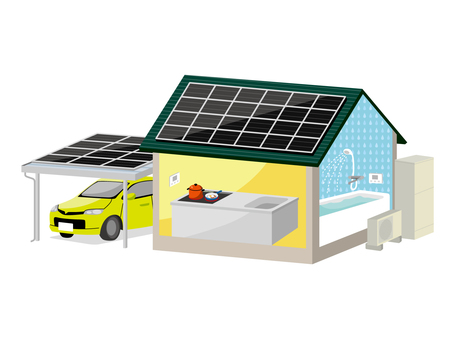Solar power and all-electric house