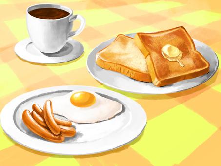 Breakfast illustration wallpaper