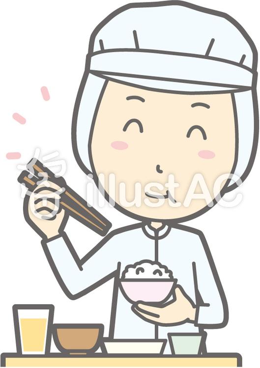 衛生服男-おいしい和食-バストのイラスト