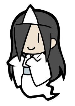 Ghost [female] Black hair