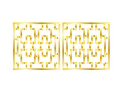 Golden Chinese lattice frame