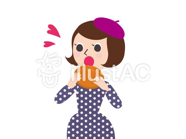 パンを食べる人イラスト No 1310368無料イラストならイラストac