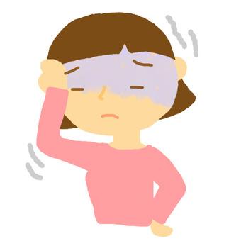 Girls suffering from headaches