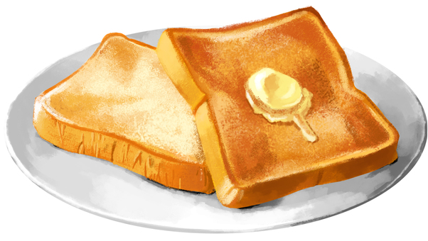 Toast butter with plate