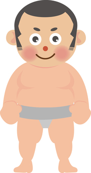 Wrestler (shaved head)
