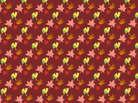 Fall leaf pattern (red)