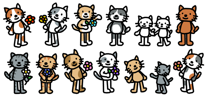 A variety of cats