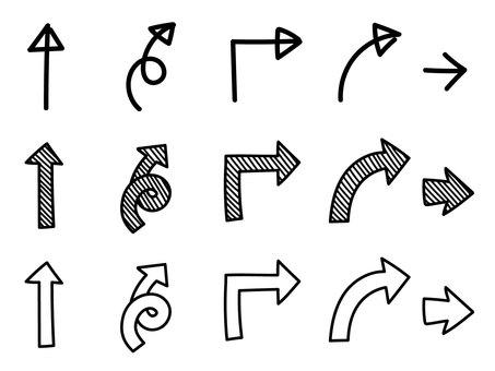 Set di frecce dipinte a mano