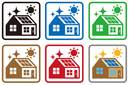 Solar powered housing icon