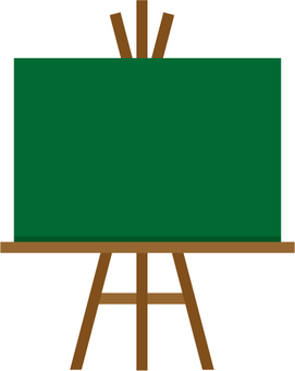 Easel on the blackboard