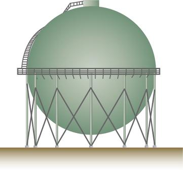 天然氣球形坦克圖