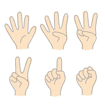 인물의 다섯 손가락 1