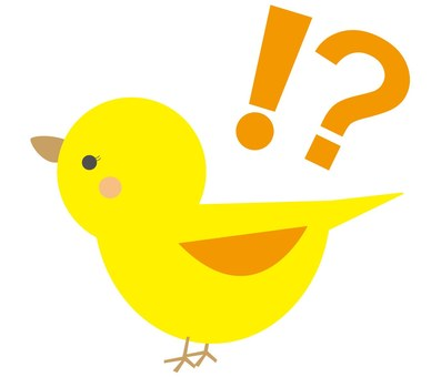 Bird (exclamation question sign)