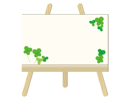 Wood frame and clover