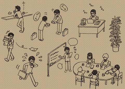 Businessman 1 cafe style