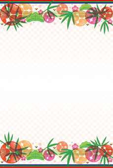 New year's card size background 46