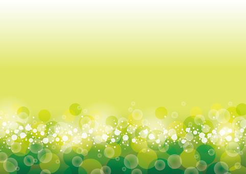 From the bottom full of fresh green glitter