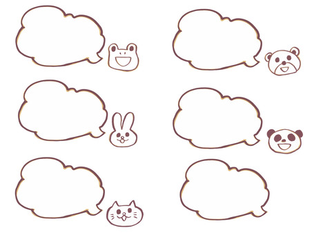 Speech bubbles (with animals) 3