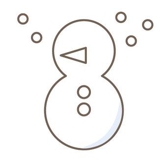 Snowman (black and white)