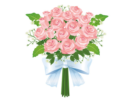 Pink roses wedding bouquet / bouquet 03