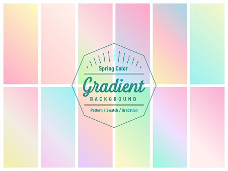그라데이션 2 / 견본 / 배경 봄빛