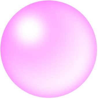 Pink glass ball