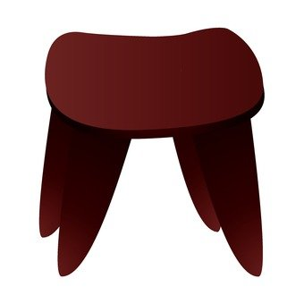African furniture stool 2