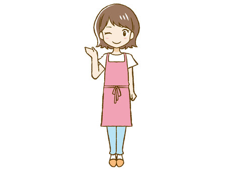 Apron woman to guide ③