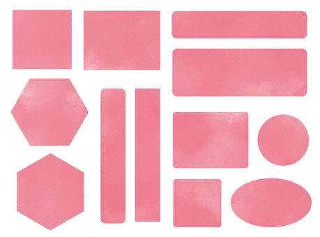 シンプルフレームセット-濃ピンク
