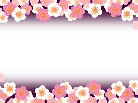 框架 - 紅色梅花白色李子02