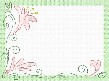 Embroidery card (green)