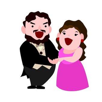 Opera singer (duet)