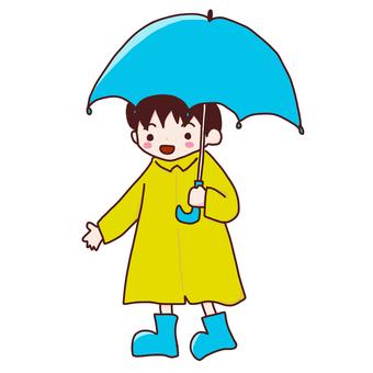 Boy holding an umbrella