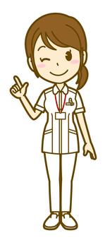 Female (nurse): A_ point 01 FS