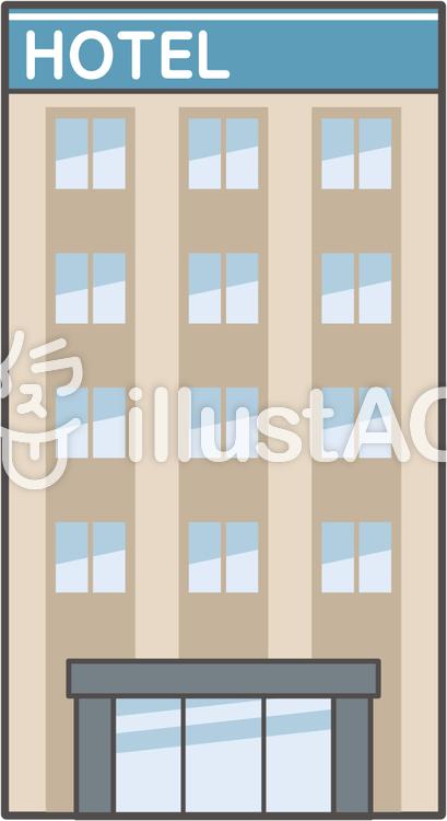建物-01-ホテルのイラスト