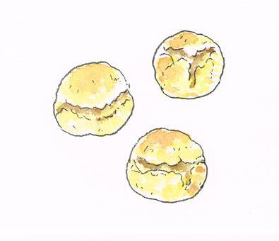 스콘 수채화