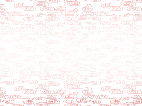 Abstract wave pattern background of red on white background